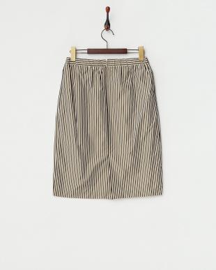 ブラウン  メモリーストライプスカート見る