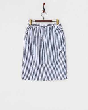 ネイビー  メモリーストライプスカート見る