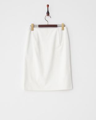 ホワイト ノントランストリコットスカート見る