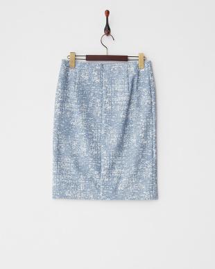 ネイビー  ストレッチプリントスカート見る