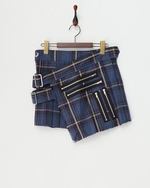 ブルー ラウンドボンデージスカート見る