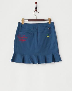 ブルー フリルスカート見る