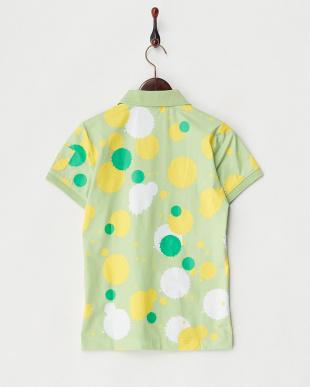 グリーン ドリップドット ポロシャツ見る