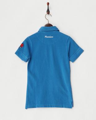 ブルー  カレッジポロシャツ見る