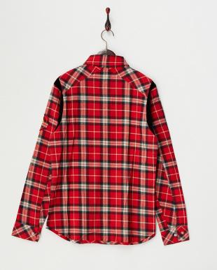 レッド  ネルチェックシャツ見る