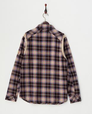 ブラウン  ネルチェックシャツ見る