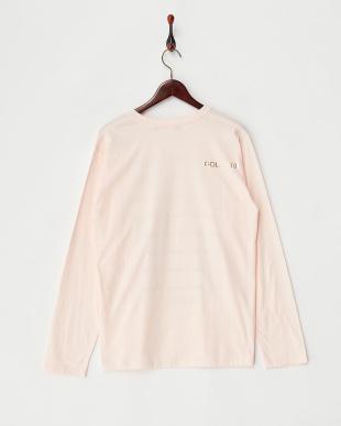 ピンク  ボーダーロングスリーブTシャツ見る