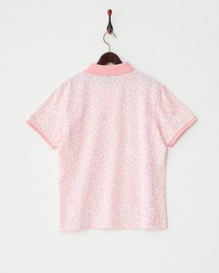 ピンク レオパードパターンポロシャツ見る