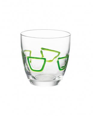グリーン グラス2個セット見る