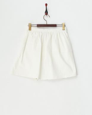 ホワイト 袖付きギャザースカート見る