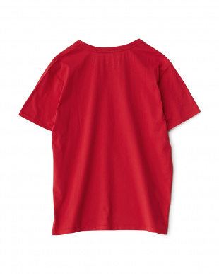 レッド  ワンポイント コットンTシャツ見る