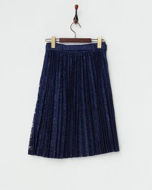 ブルー  チュールレーススカート見る