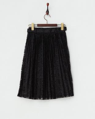 ブラック  チュールレーススカート見る