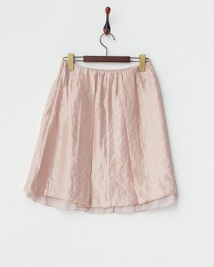 スモーキーピンク  シャイニーツイルスカート見る