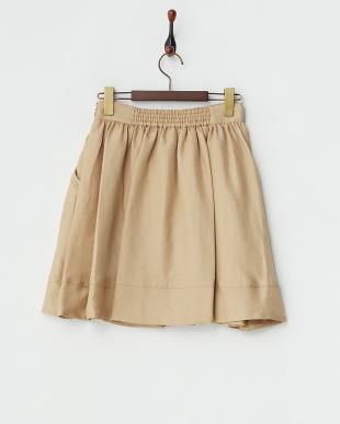 ベージュ  ダブルクロススカート見る