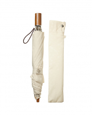 ホワイト花柄 折り畳み日傘|WOMEN見る