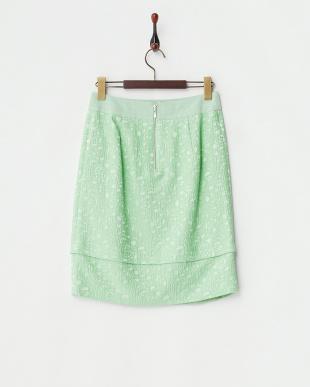 グリーン ディメンションジャカードスカート見る