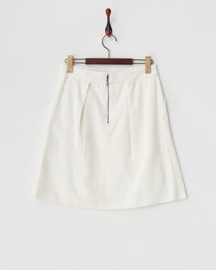 ホワイト コンパクトグログランタック使いスカート見る