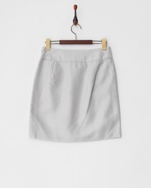 グレー  シルクブレンドブライトジャカードスカート見る