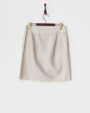 ベージュ  シルクブレンドブライトジャカードスカート見る