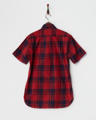 RED  SK.SASHIKO CHECK 半袖BDシャツ見る