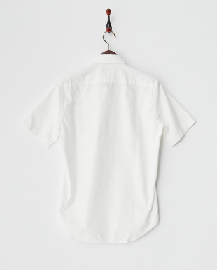 WHITE  MI.POCKET PRINT シャツ見る