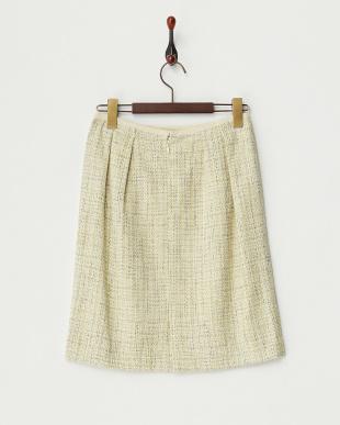 ペールグリーン  フリクションツィードスカート見る
