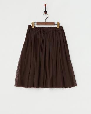 ブラウン  フェイクスエードリバーシブルスカート見る