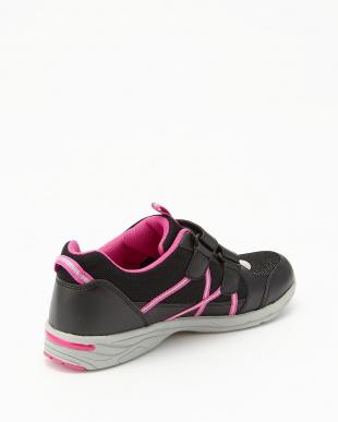 ブラック×ピンク  女児 ダブルベルクロモデル見る