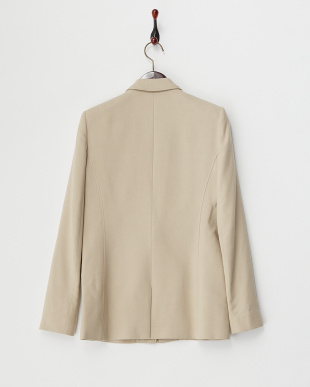 beige NOA SUITING FRACTALレザーコンビジャケット見る