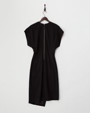 black PALM SUITING Vネックドレス見る