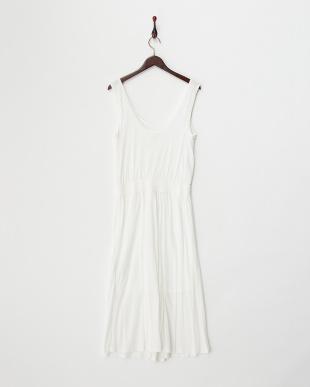 white  ENTITY ジャージーロングドレス見る