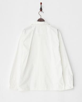 ホワイト  タイプライターラウンドカラーシャツ見る