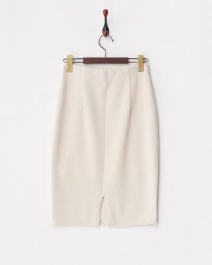 ホワイト  タイトカットスカート見る