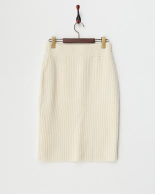 OFF WHITE  B:リブタイトスカート見る