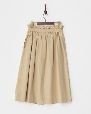 ベージュ  ウエストリボンアシメデザインスカート見る
