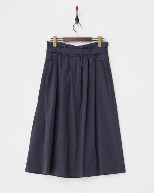 ネイビー  ウエストリボンアシメデザインスカート見る