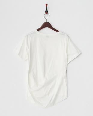 オフホワイト  アシメタックTシャツ見る