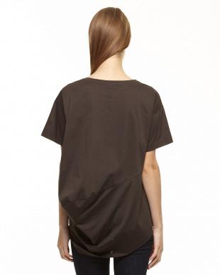 ブラウン  アシメタックTシャツ見る