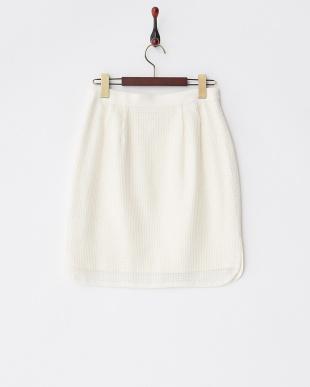 ホワイト メッシュスカート見る