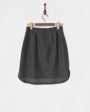ブラック メッシュスカート見る