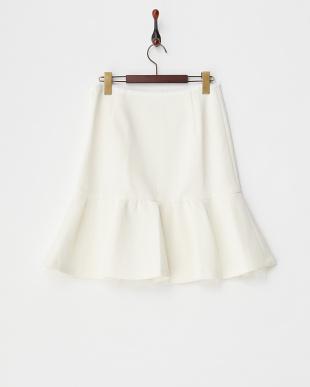 ホワイト  ダンボールニットスカート見る