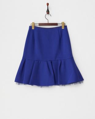 ブルー  ダンボールニットスカート見る