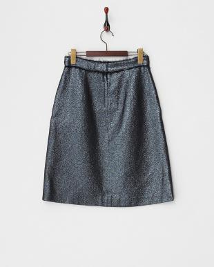 ブラック系 ラメジャガードユーロップ スカート見る