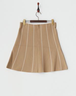 CML  ストライプ台形スカート見る