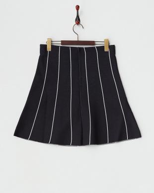 NVY  ストライプ台形スカート見る
