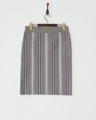 GRY  ストライプタイトスカート見る