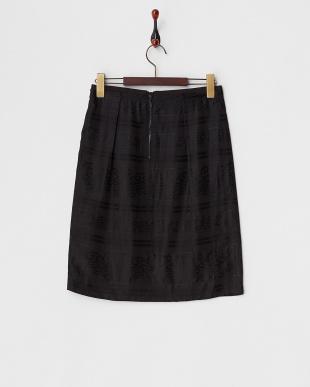 ブラック クリーパージャカードスカート見る