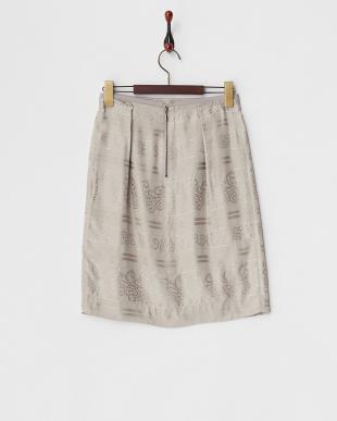 グレージュ クリーパージャカードスカート見る