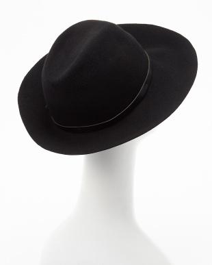 BLACK  RE:レザーベルト付HAT見る
